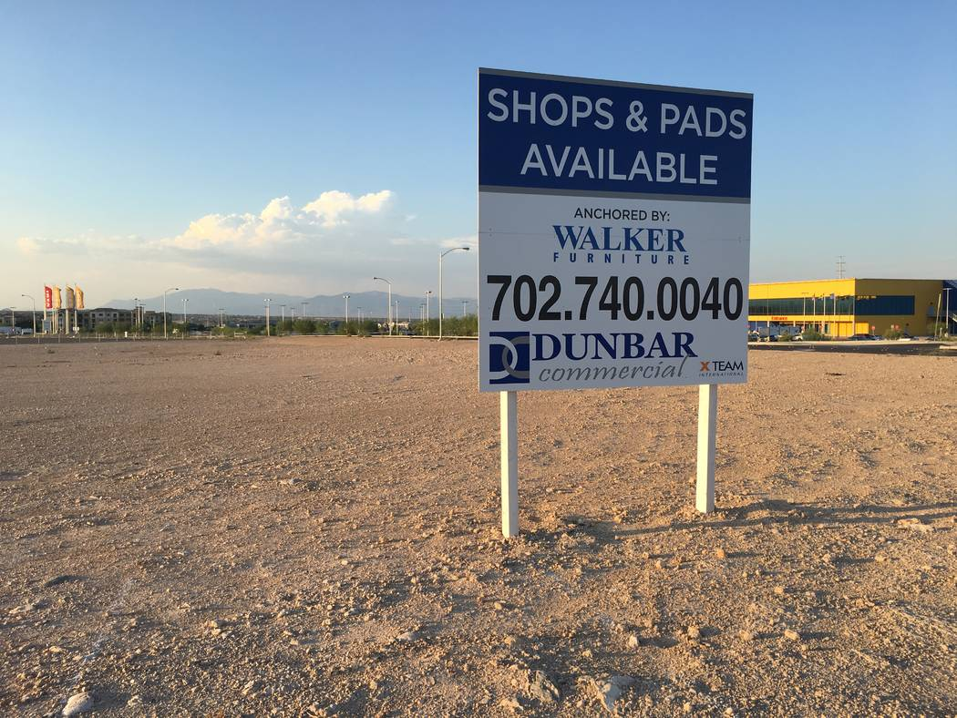 Walker Furniture announced plans in March 2017 to build a store next to Ikea in the southwest Las Vegas Valley, on this property seen Aug. 13, 2018. The store has not been built. (Eli Segall/Las V ...