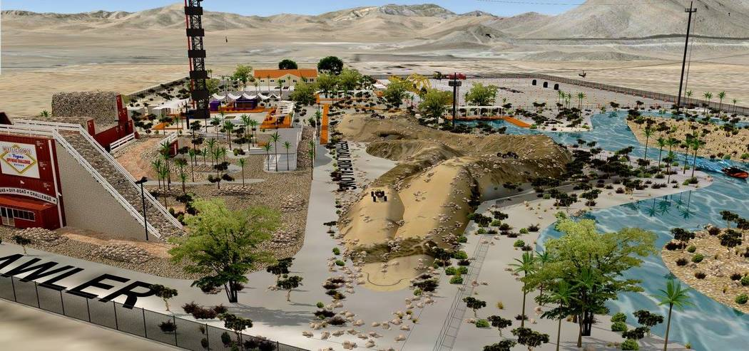 Machine Guns Vegas owner Genghis Cohen laid out plans more than two years ago for XPark Vegas off Interstate 15. XPark would feature a 180-foot bungee tower, a shooting range, an obstacle course f ...
