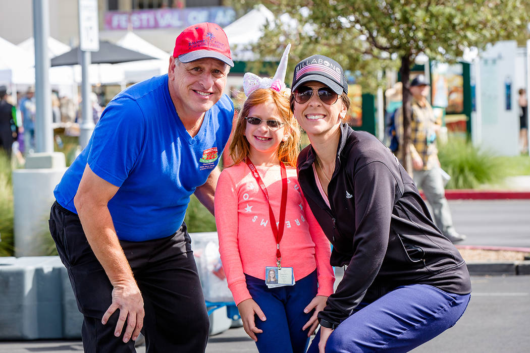 Tom and Tina Collelo, along with their daughter, Gabriella, 7, are pictured here at the recent Summerlin Festival of Arts. (Summerlin)