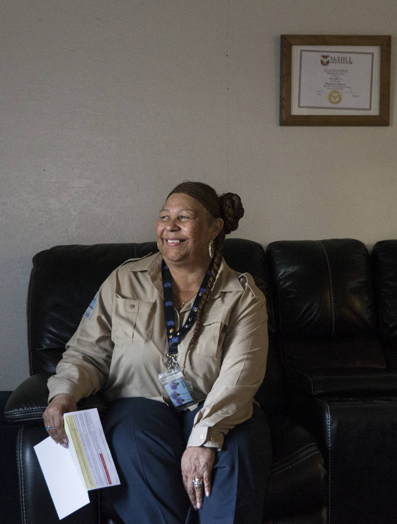 Ellen Fletcher is a tenant at the Cornerstone Crossing apartment complex who has faced rent hikes since moving there in 2016. Photo taken on Wed., November 7, 2018, at her apartment, in Las Vegas. ...