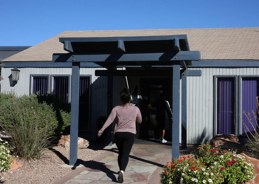 The exterior of Cornerstone Crossing apartments leasing office at 6666 W. Washington Ave., photographed on Friday, Oct. 19, 2018, in Las Vegas. Bizuayehu Tesfaye/Las Vegas Review-Journal @bizutesfaye