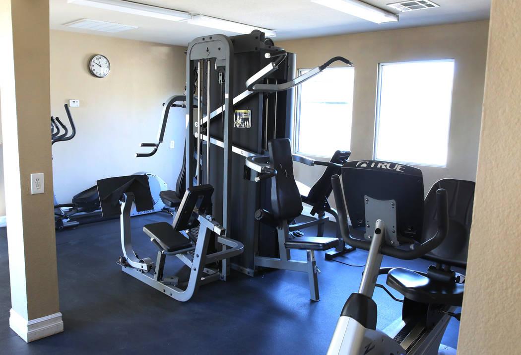 Exercise room at Cornerstone Crossing apartments 6666 W. Washington Ave., photographed on Friday, Oct. 19, 2018, in Las Vegas. Bizuayehu Tesfaye/Las Vegas Review-Journal @bizutesfaye