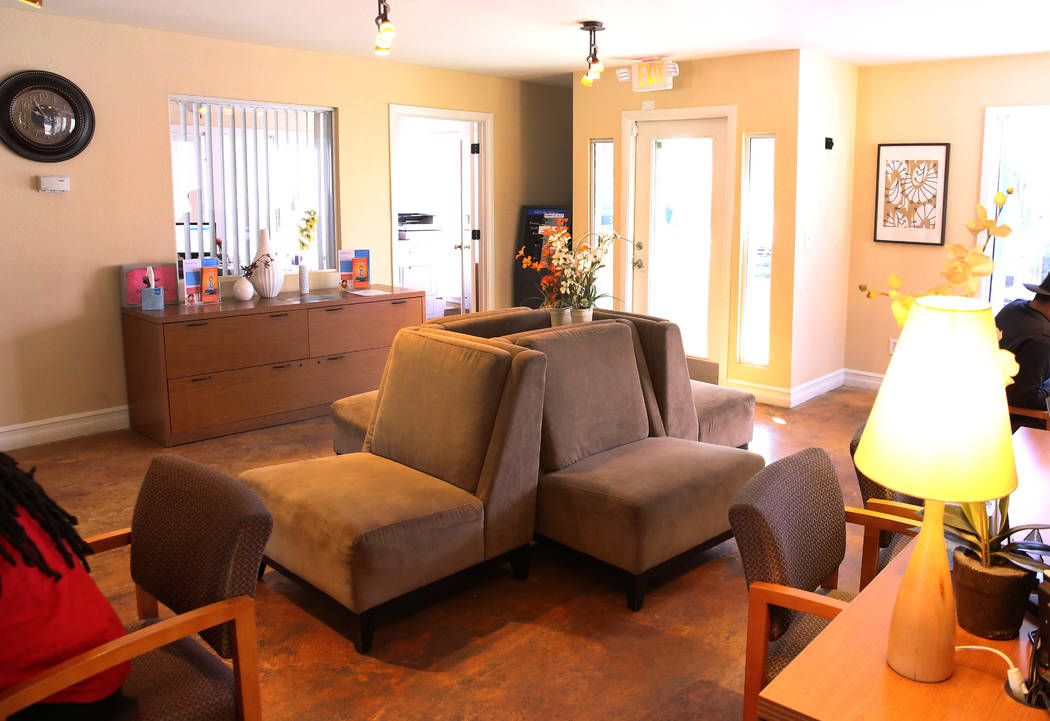 The interior of Cornerstone Crossing apartments leasing office on 6666 W. Washington Ave., photographed on Friday, Oct. 19, 2018, in Las Vegas. Bizuayehu Tesfaye/Las Vegas Review-Journal @bizutesfaye