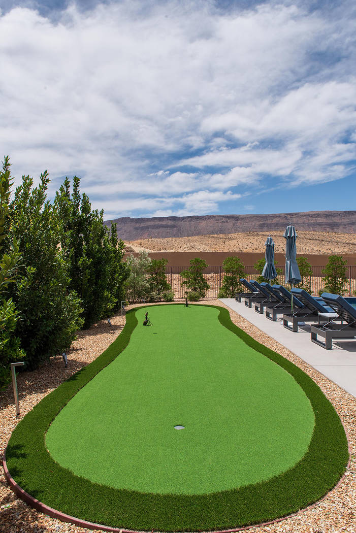 There is a putting course by the pool. (Steve Morgan)