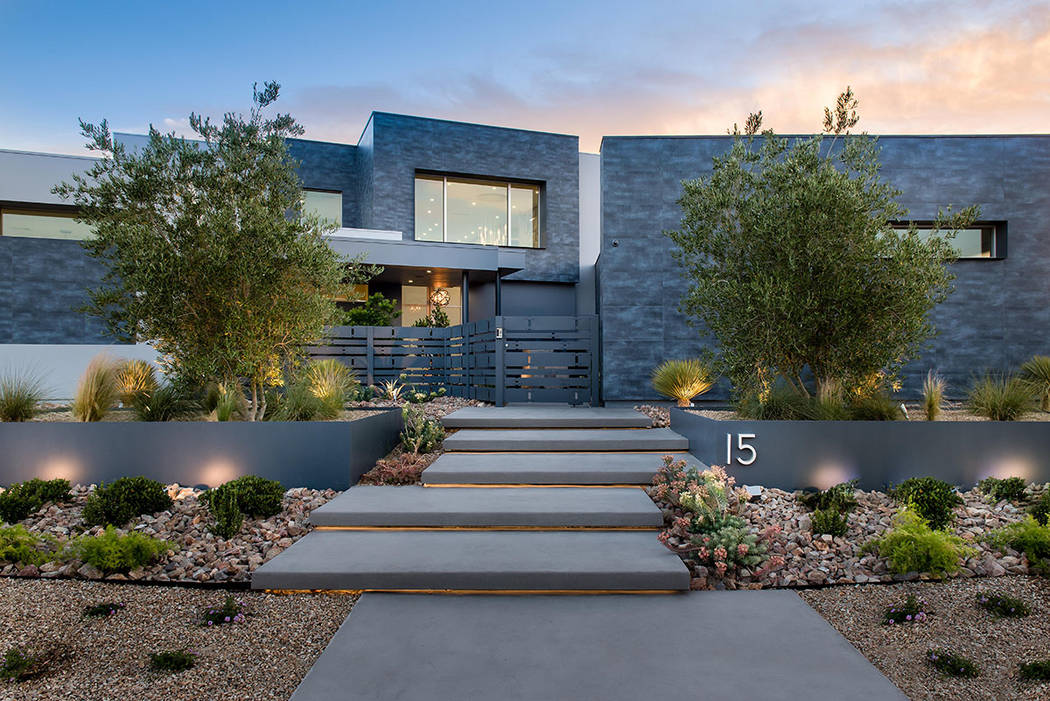 This 12,025-square-foot home in The Ridges Azure community of Summerlin is listed for nearly $10M. (Steve Morgan)