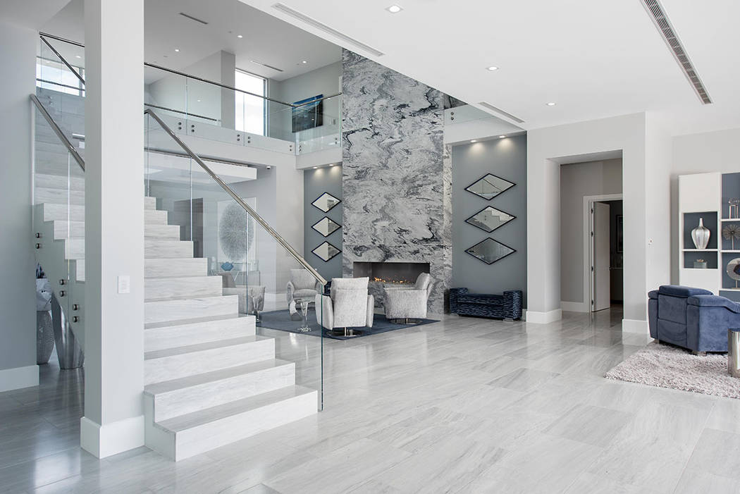 The two-story home measures 12,025 square feet. (Steve Morgan)