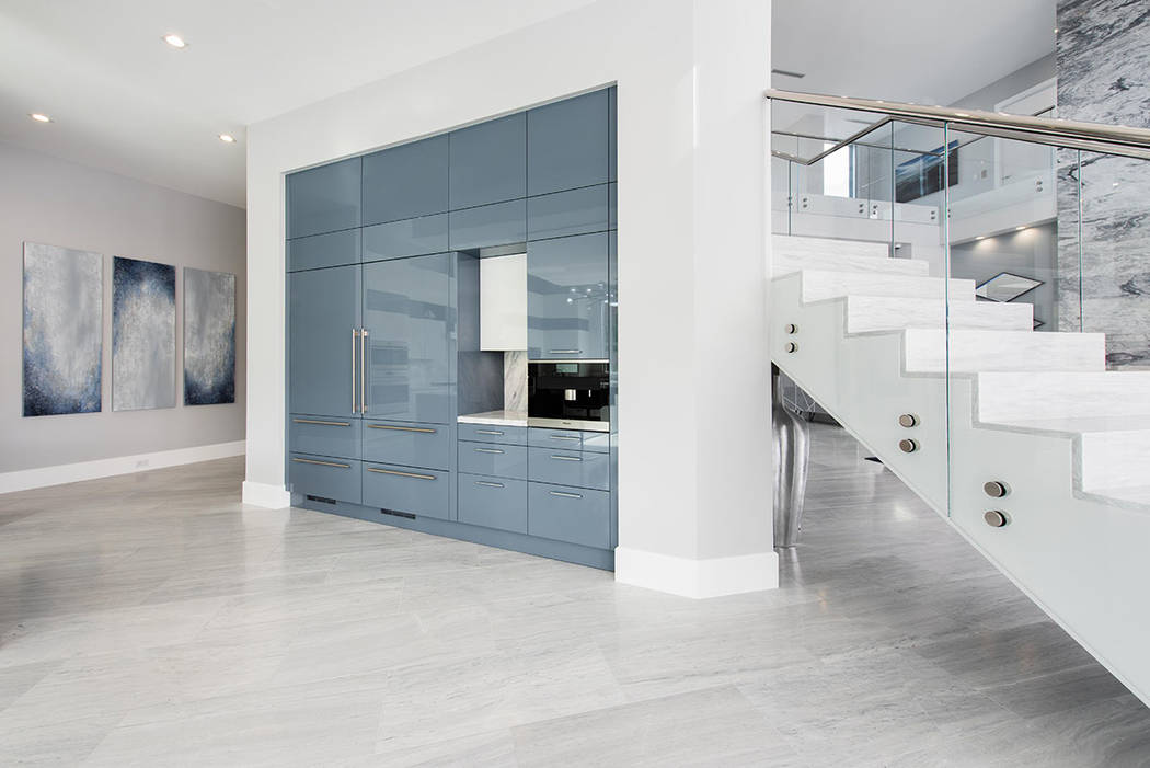 The home has luxury materials and custom finishes (Steve Morgan)