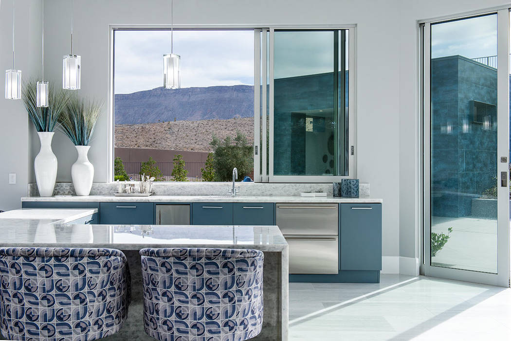 A view of the desert mountains from the kitchen. (Steve Morgan)