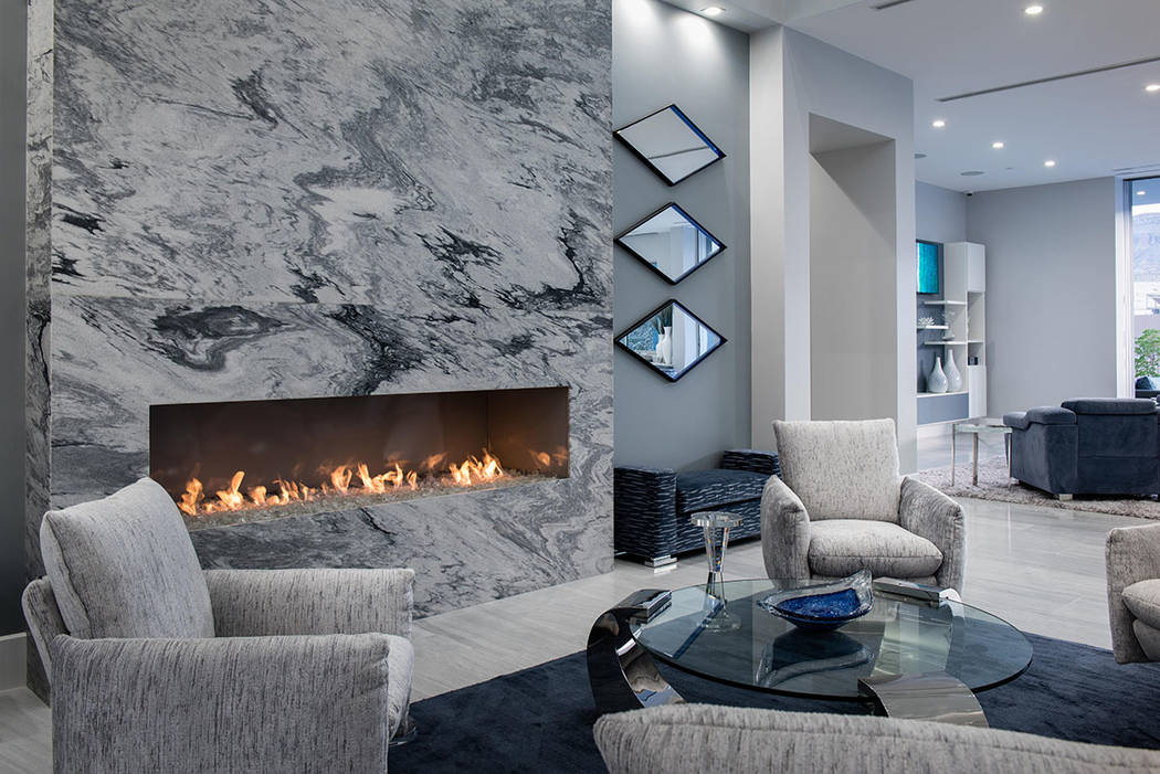 The great room features a fireplace. (Steve Morgan)