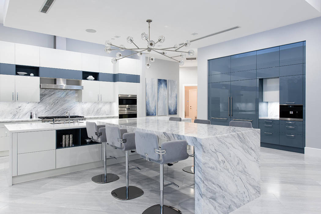 The kitchen showcases Scavolini cabinetry. (Steve Morgan)