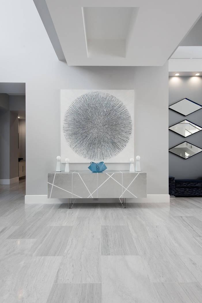 The home showcases modern design and art. (Steve Morgan)
