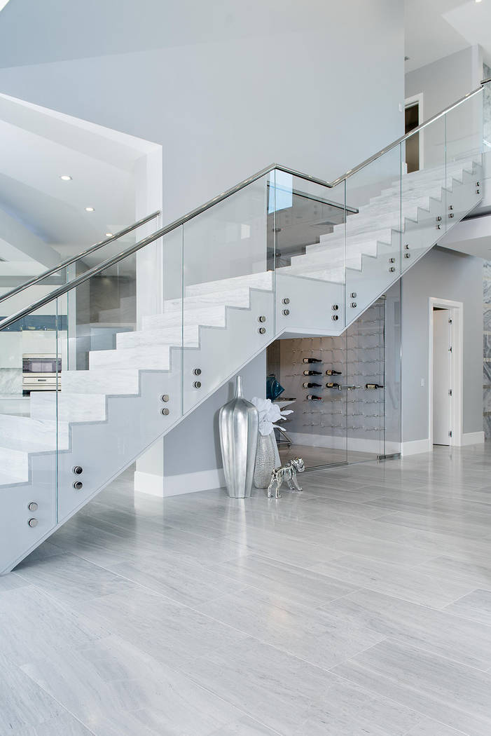 The wine room is under the stairs. (Steve Morgan)