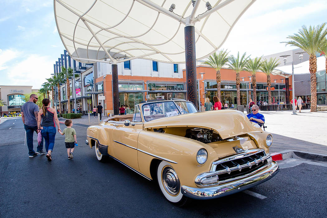 "Lots of classic cars were show off at the ""The Art of the Classic Car"" at the festival. (Summerlin)"