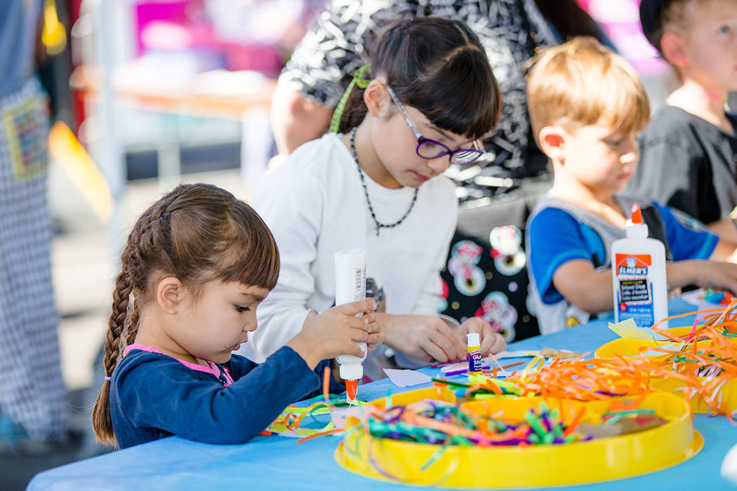 Children participate in activities at the 23rd annual Summerlin Festival of Arts. (Summerlin)