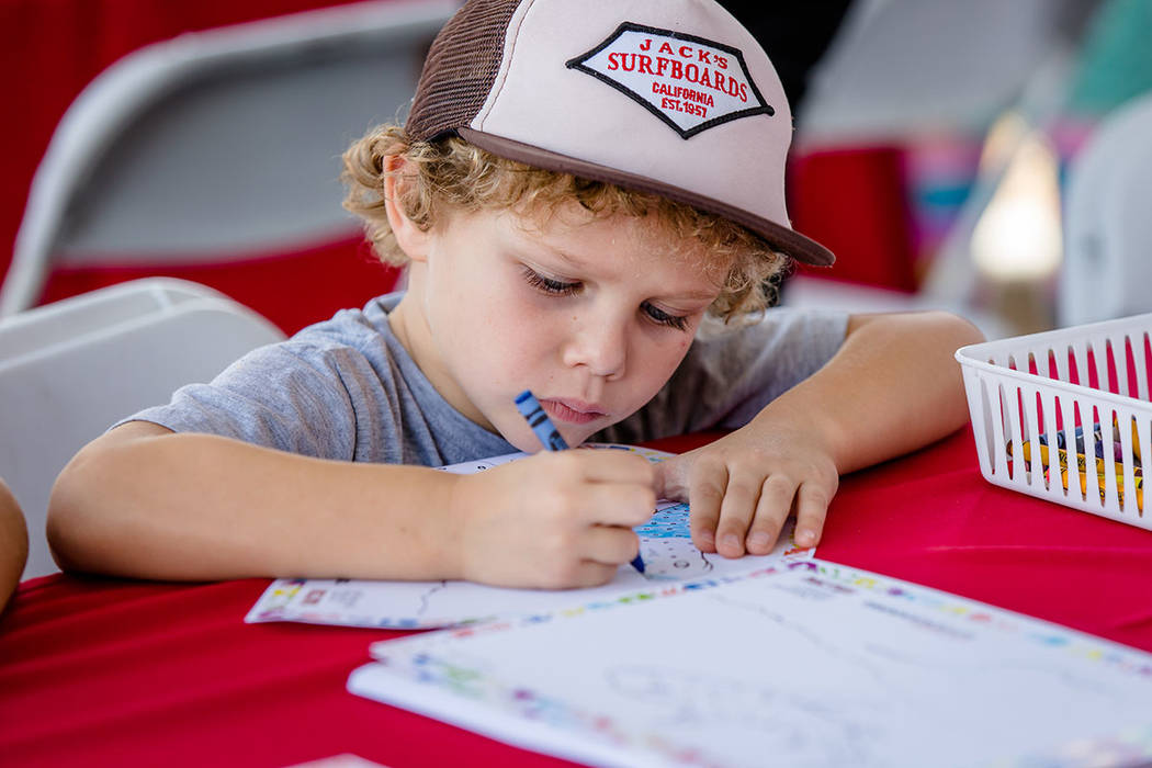 A boy creates his own art at the Summerlin Festival of Arts. (Summerlin)