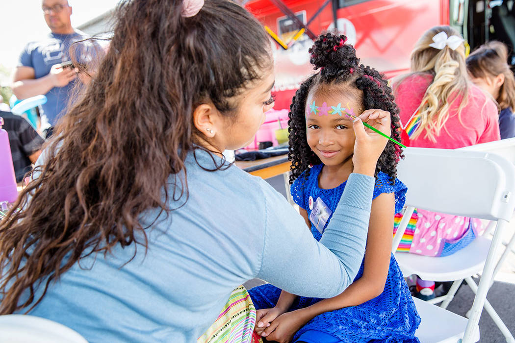 The arts festival offered face-painting. (Summerlin)