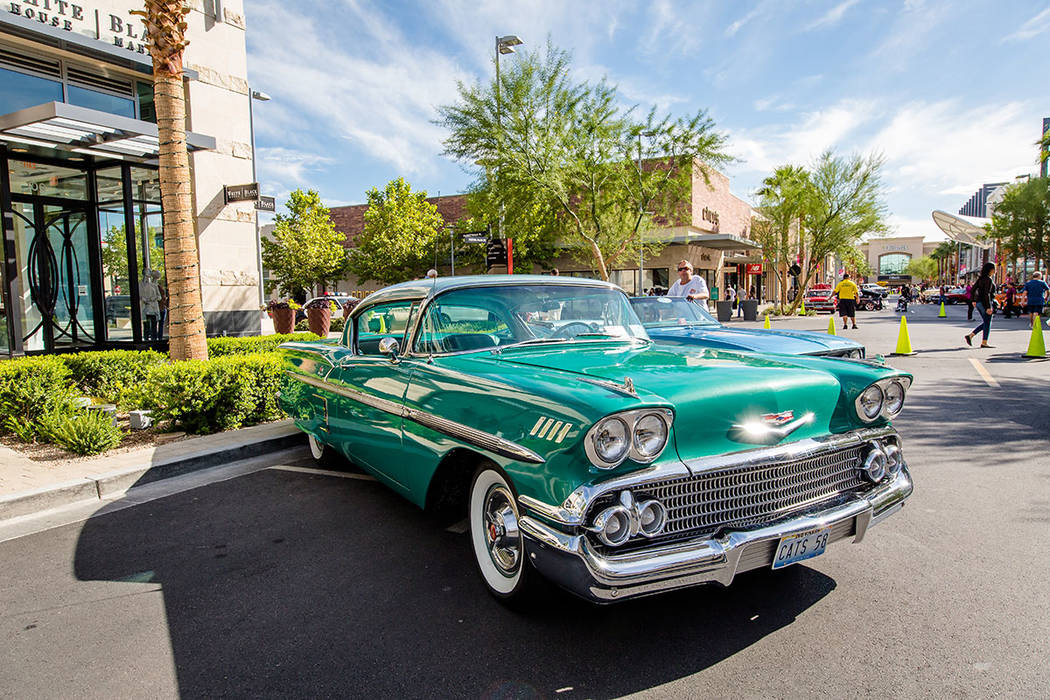 """The Art of the Classic Car"" was presented by the Mustang and Classic Ford Club of Las Vegas at the festival. (Summerlin)"