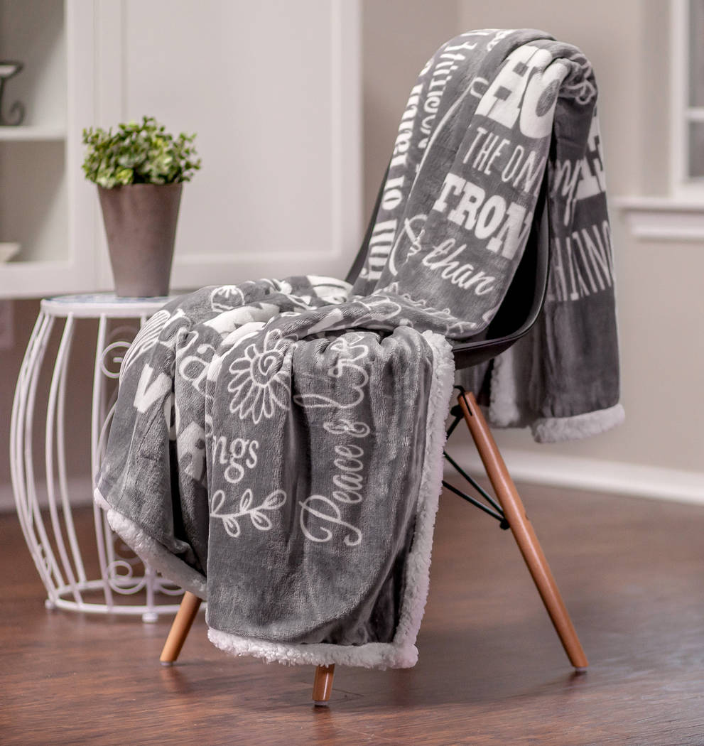 Life can get little stressful sometimes, and this comforting blanket is a reminder to keep hope, remember blessings and trust in miracles. (Chanasya)