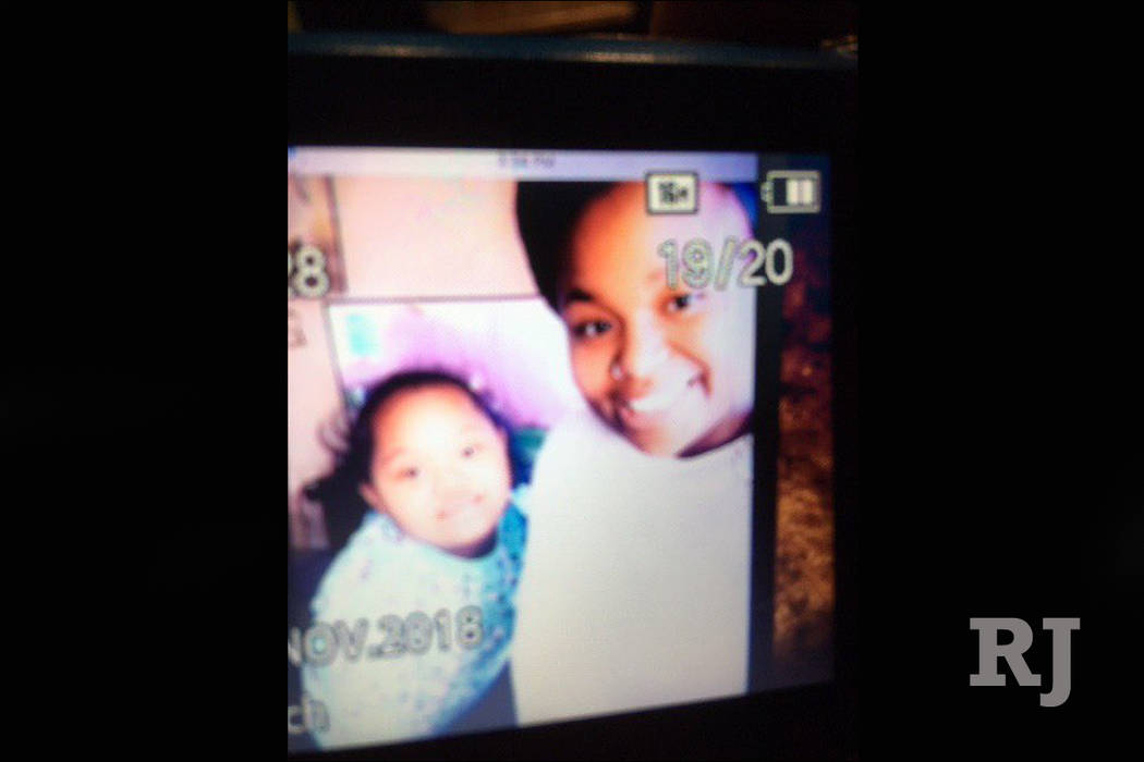 North Las Vegas police said 10-year-old Justice Hartt, left, and her 15-year-old sister, J'Moni Moorhead, right, were last seen with J'Moni's 10-month-old daughter, J'Ariee Hartt, about 4 p.m. Wed ...