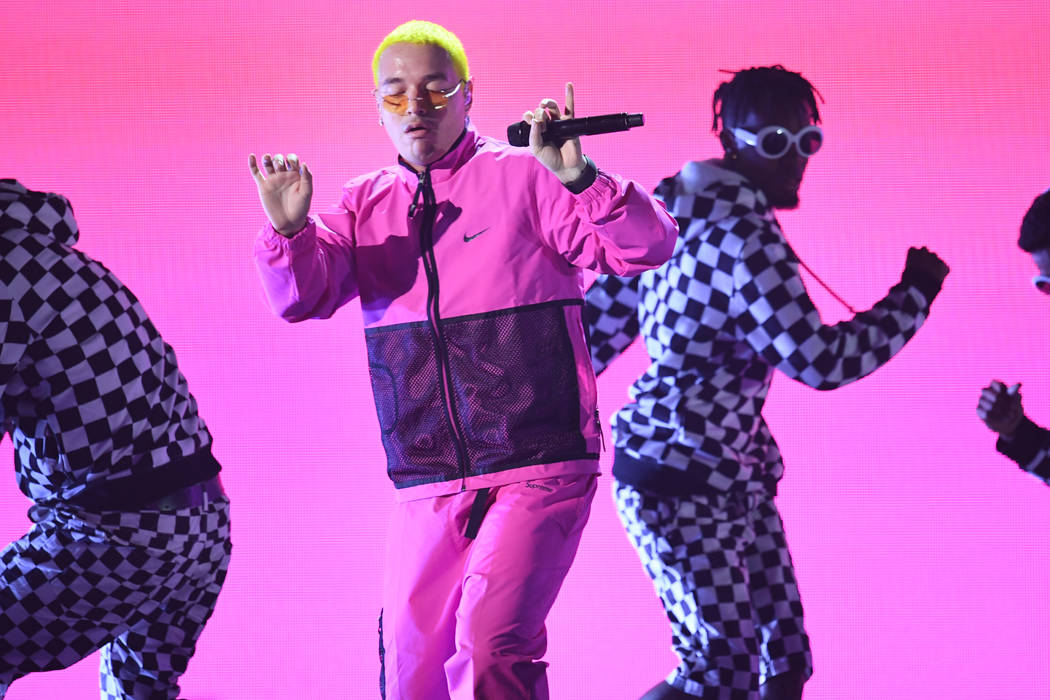 J Balvin performs onstage at the 18th Annual Latin Grammy Awards at MGM Grand Garden Arena on November 16, 2017 in Las Vegas, Nevada. (Photo by Kevin Winter/Getty Images)