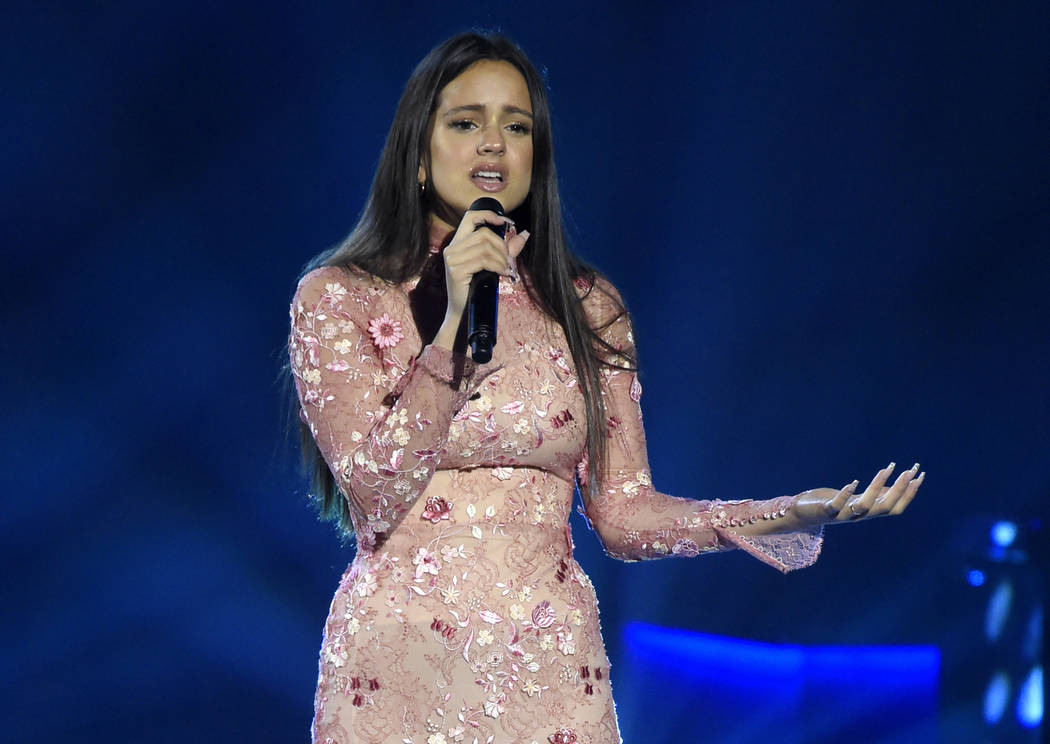"Rosalia performs ""Cuando Nadie Me Ve"" at the Latin Recording Academy Person of the Year tribute honoring Alejandro Sanz in Las Vegas. Rosalia received five nominations Thursday, Sept. 20, for the ..."