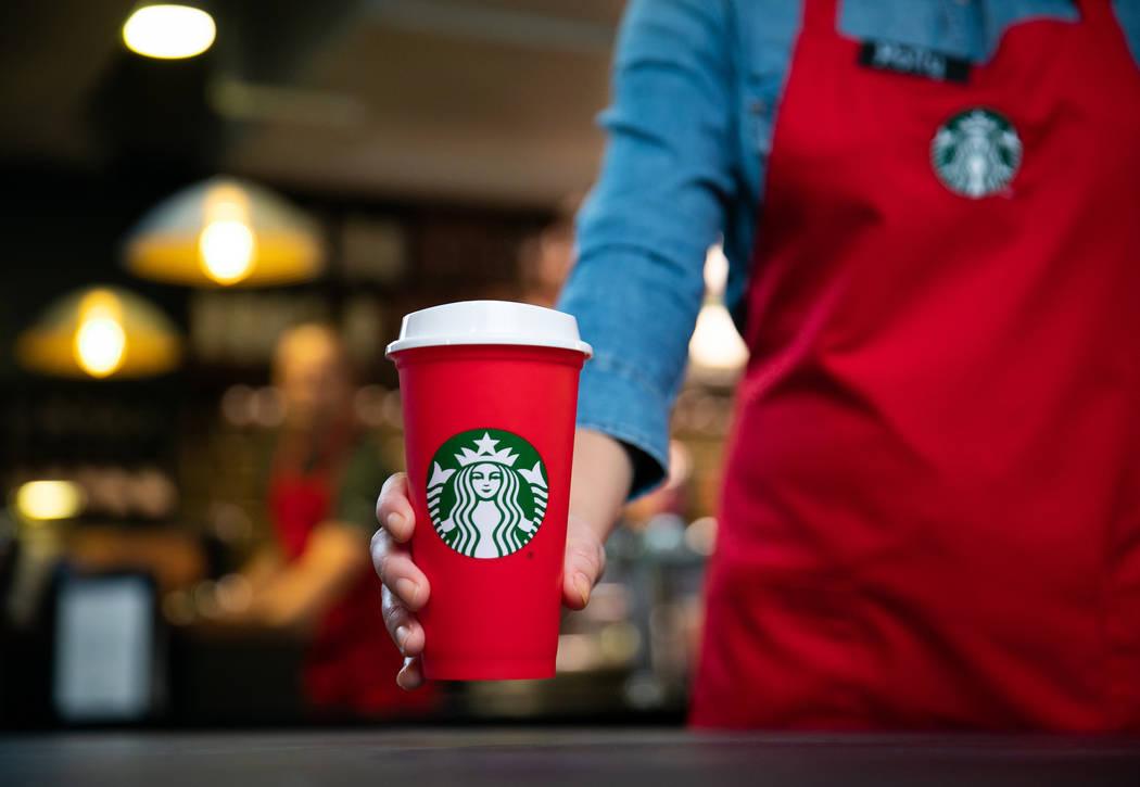 Starbucks 2018 Holiday Cups shown on Thursday, October 25, 2018 in Seattle. (Joshua Trujillo, Starbucks)