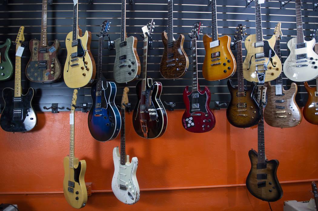 Inside view of Cowtown Guitars in Las Vegas, Sunday, Nov. 4, 2018. Caroline Brehman/Las Vegas Review-Journal