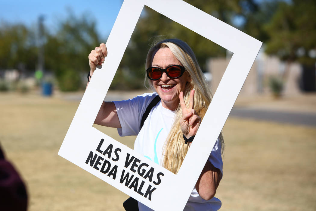 Guest speaker Jessica Lucas poses for a photograph at the Las Vegas National Eating Disorder Association walk at Sunset Park in Las Vegas, Sunday, Nov. 11, 2018. Caroline Brehman/Las Vegas Review- ...