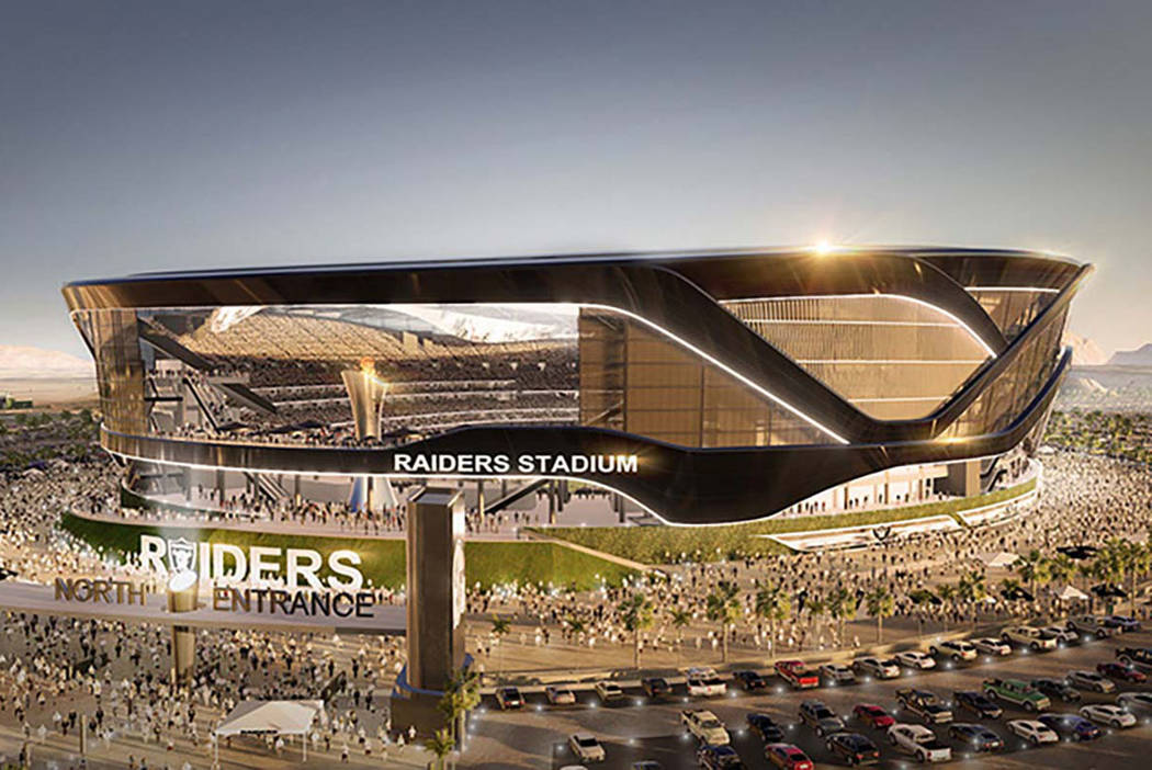 Rendering of proposed Raiders Stadium in Las Vegas (MANICA Architecture)