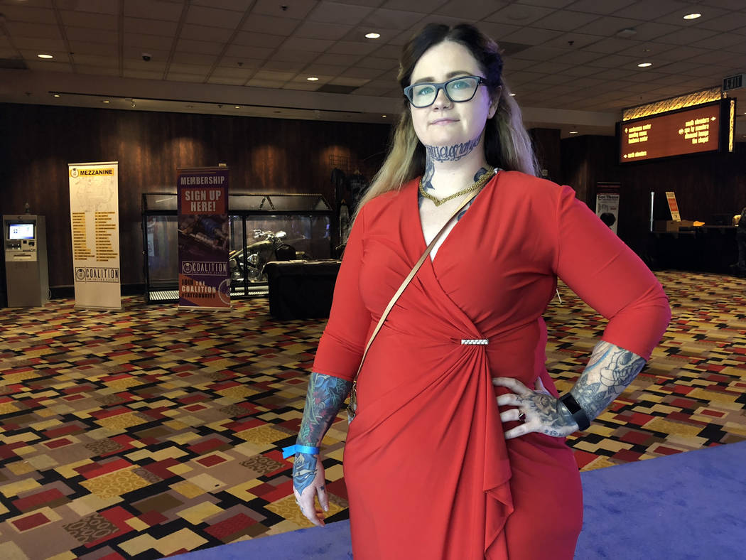 Selina Media, a tattoo artist from Florida, presented at The World Tattoo Show and Convention in Las Vegas Friday, Nov. 2, 2018. Todd Prince/Las Vegas Review-Journal