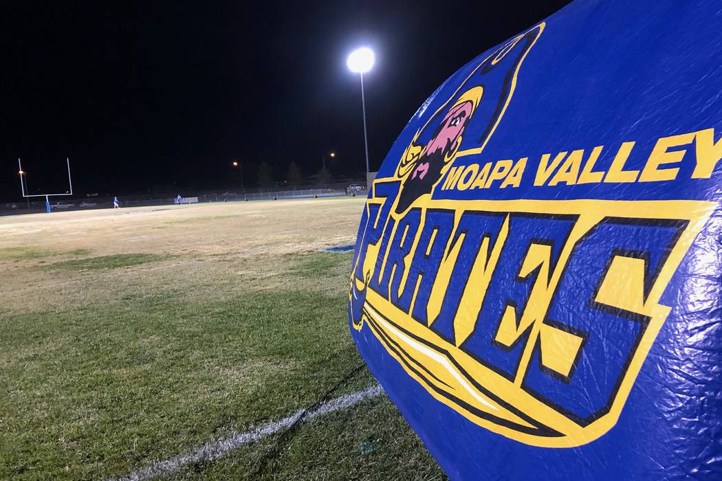 Moapa Valley's football field is seen before a Class 3A state quarterfinal game against Cheyenne on Nov. 2, 2018 in Overton, Nev. Justin Emerson/Las Vegas Review-Journal
