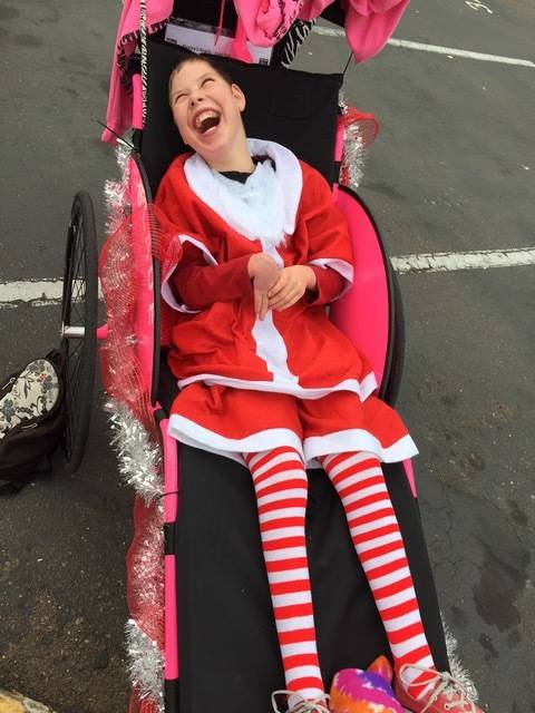 Cormac Evans participates in the Santa Run in San Diego in December 2016. Photo by Larraine DeLoach