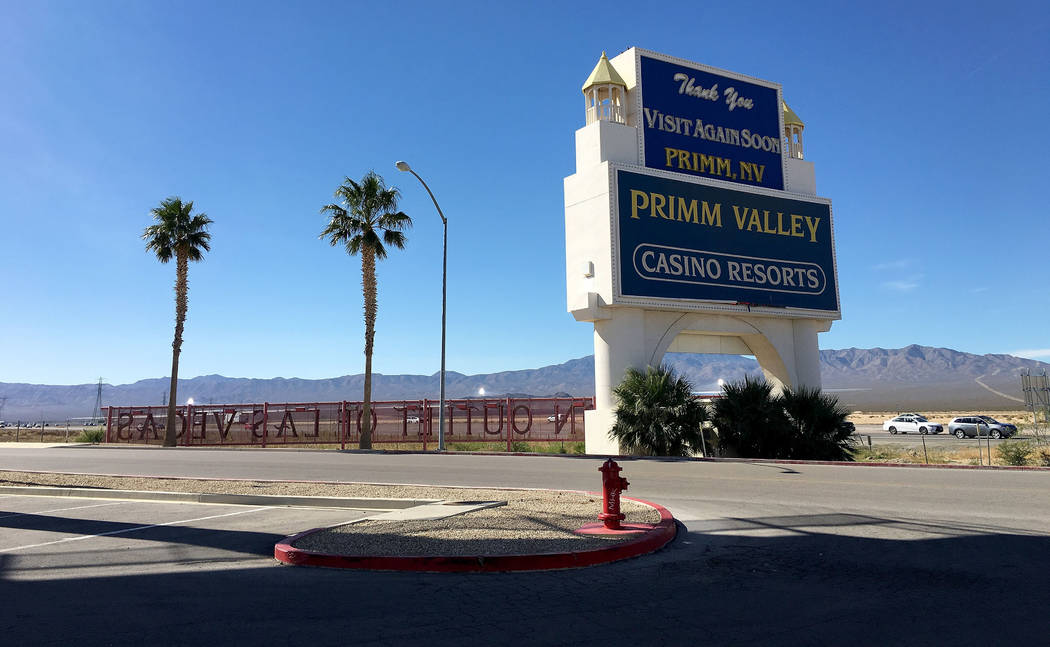 A sign for Fashion Outlets of Las Vegas in Primm, Nev., Saturday, Nov. 3, 2018. Chitose Suzuki Las Vegas Review-Journal @chitosephoto