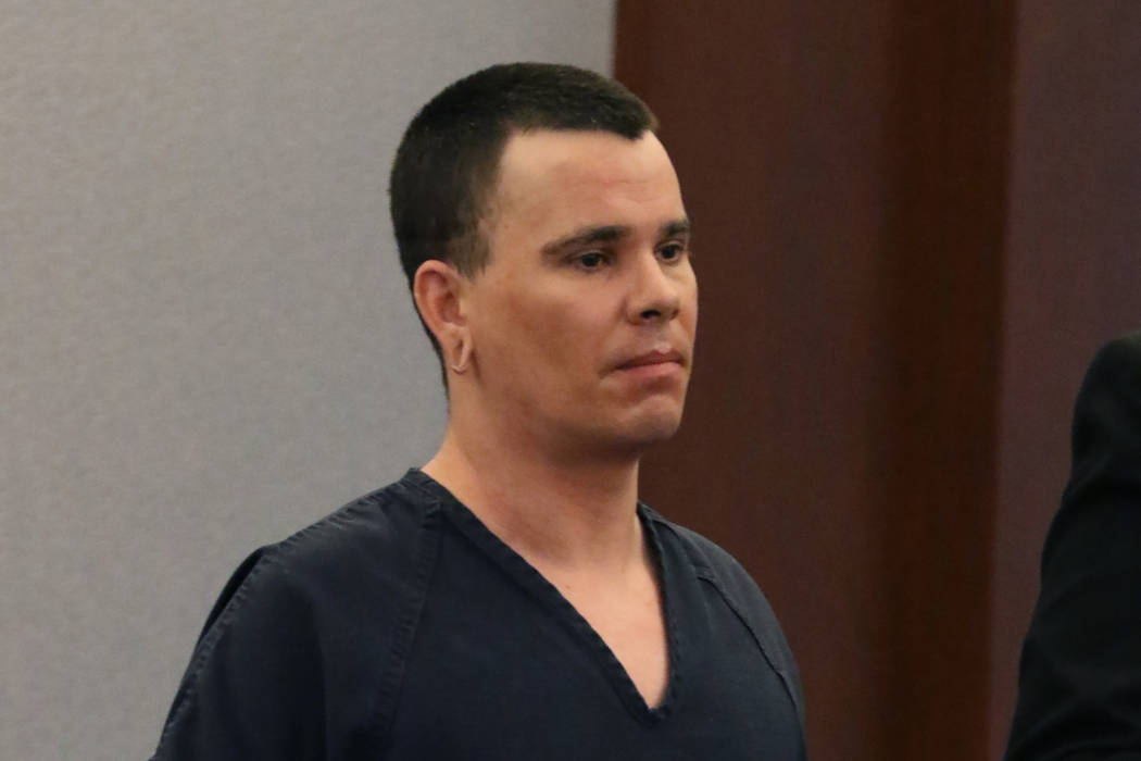 Daniel Becker appears in court at the Regional Justice Center on Monday, Nov. 5, 2018, in Las Vegas. Becker pleaded guilty to three counts of DUI resulting in death and will be sentenced on Jan. 7 ...