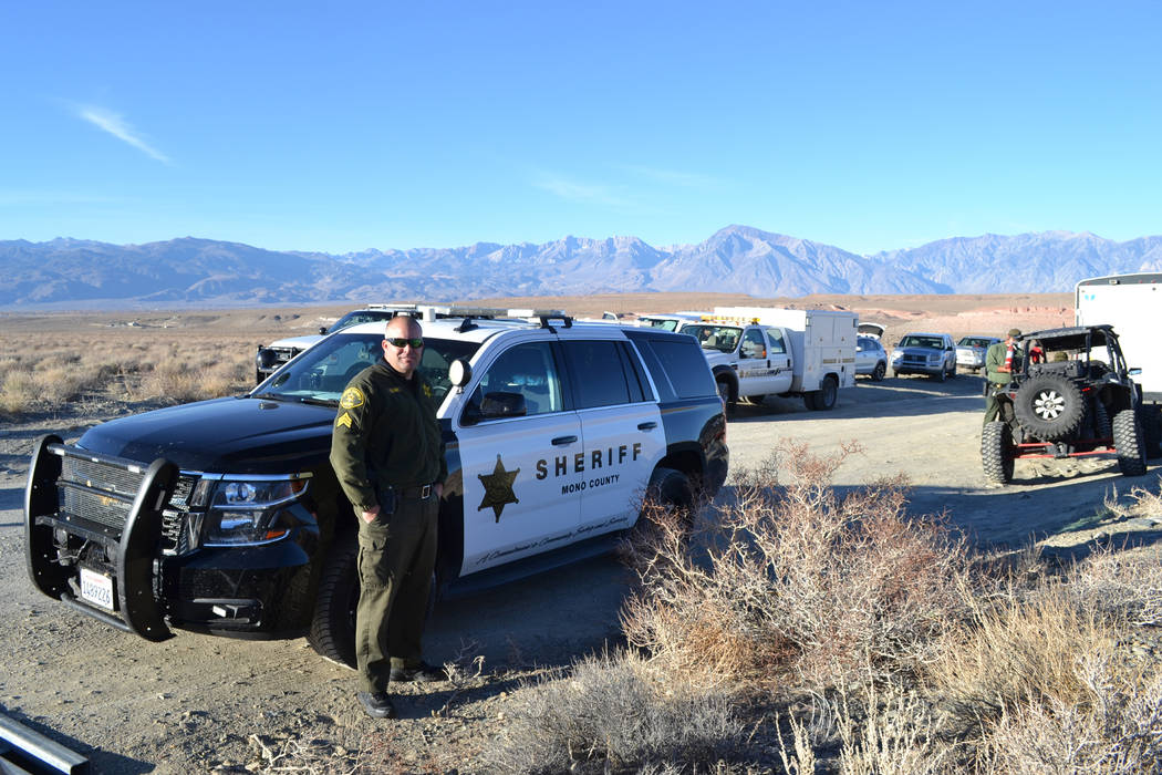 Mono County Sheriff's Office Sgt. Seth Clark, supervisor of the search for Karlie Guse on November 3, 2018