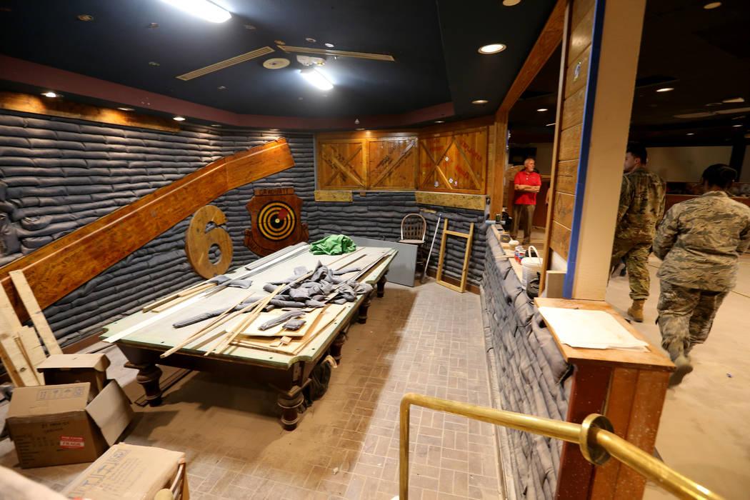 Renovations continue at Robin's Roost inside The Club at Nellis Air Force Base Friday, Nov. 2, 2018. K.M. Cannon Las Vegas Review-Journal @KMCannonPhoto