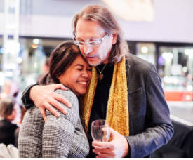 Alexandria Le (Founder and Executive Artistic Director of Notes with a Purpose/Las Vegas Music & Wine Festival), pianist and composer Uli Geissendoerfer (guest of the Pop-Up) Trejo Vanegas Photography