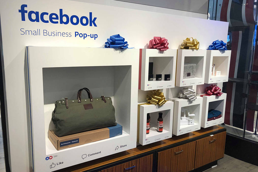 A Facebook-branded space inside of Macy's at the Fashion Show shopping center will showcase 13 small businesses in November and December and seven in January. Courtesy of Macy's.