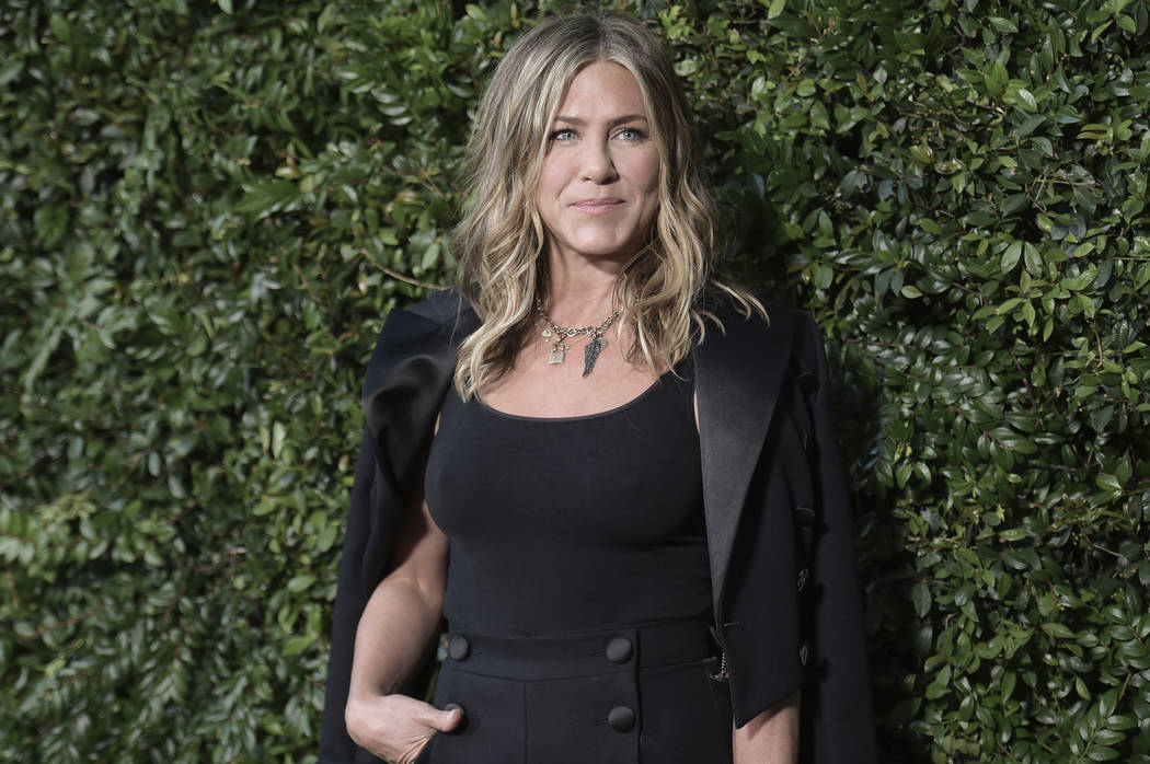 Jennifer Aniston attends Chanel and NRDC Host Dinner to Celebrate Our Majestic Oceans on Saturday, June 1, 2018, in Malibu, Calif. (Photo by Richard Shotwell/Invision/AP)