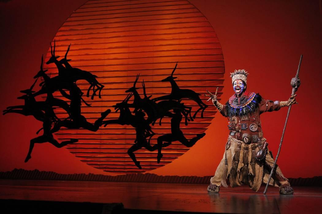 """Buyi Zama as Rafiki in """"The Lion King"""" North American tour. (Disney / Joan Marcus)"""