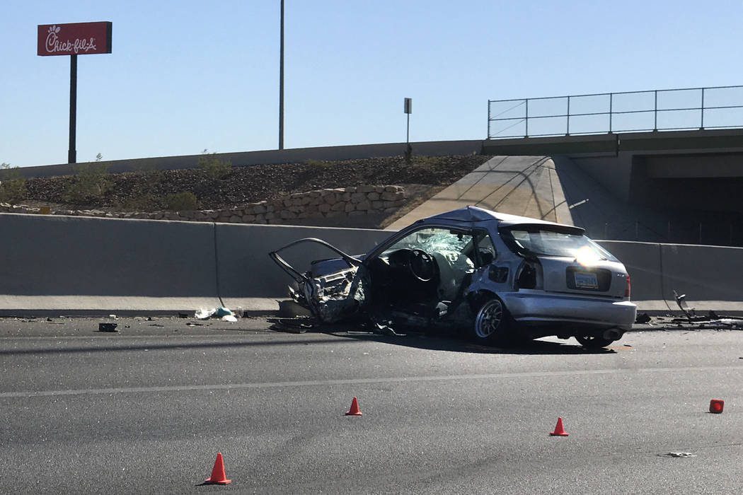Las Vegas Car Accident >> Driver Killed In Crash On Us 95 Was 19 Year Old Las Vegas