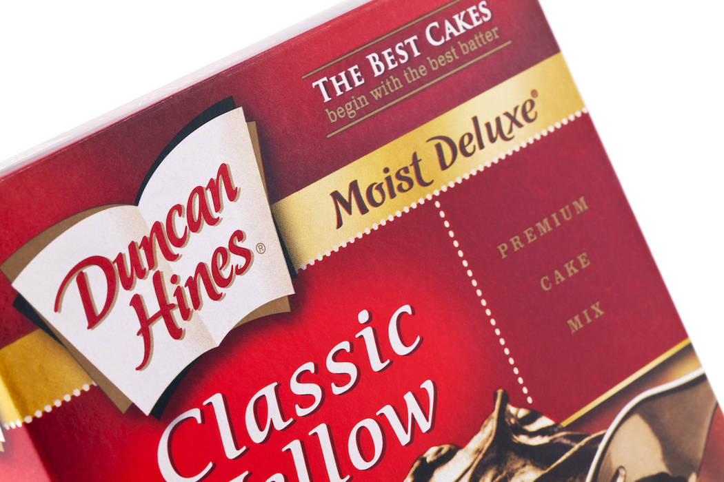 Product shot of a box of Duncan Hines boxed cake mix. (Getty Images)