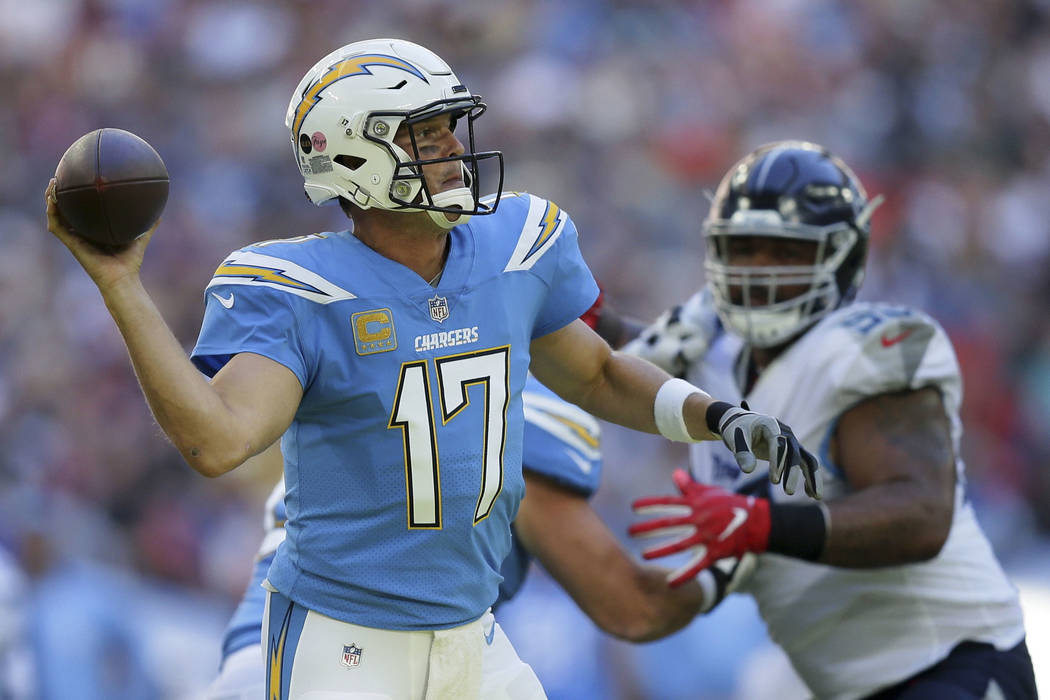 timeless design 72572 9cf9f FILE - In this Oct. 21, 2018, file photo, Los Angeles Chargers