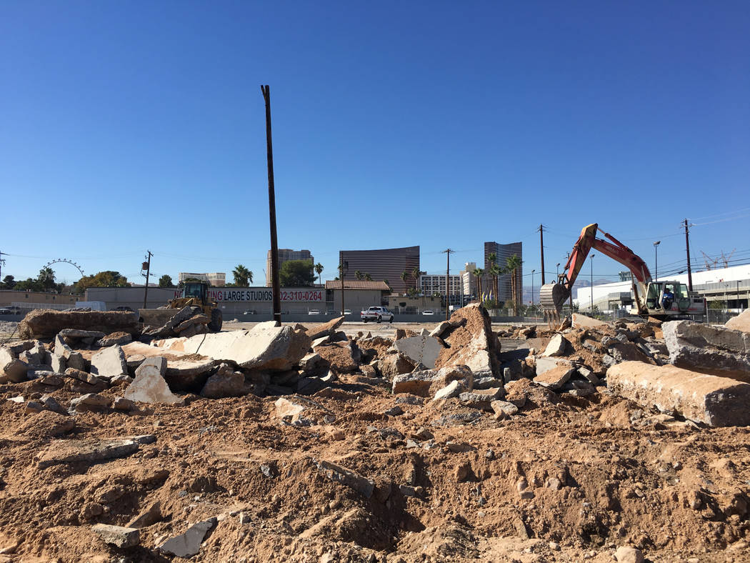 This site on Swenson Street near the Las Vegas Convention Center, as seen Tuesday, Nov. 6, 2018, is where developer Daniel Grimm plans to build a six-story hotel.(Eli Segall/Las Vegas Review-Jou ...