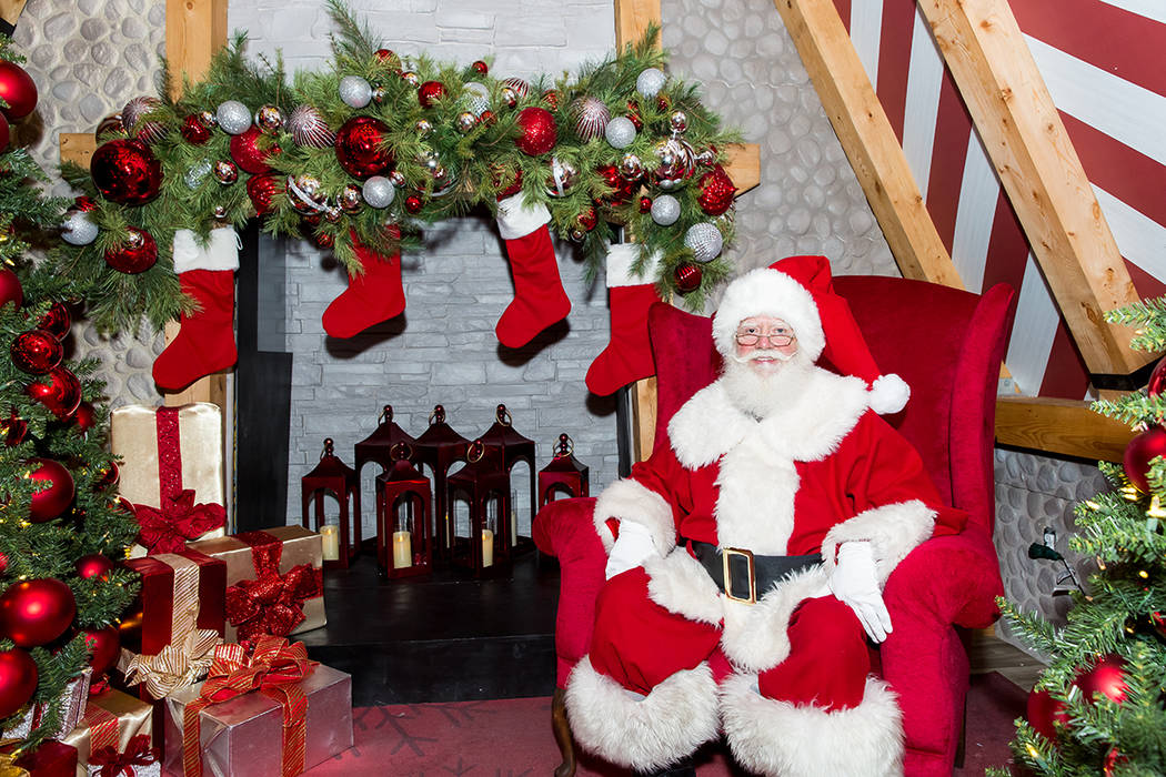 Santa Claus returns to Downtown Summerlin Nov. 16-Dec. 24. His chalet, sponsored by Pardee Homes, is in the Macy's Promenade. (Summerlin)