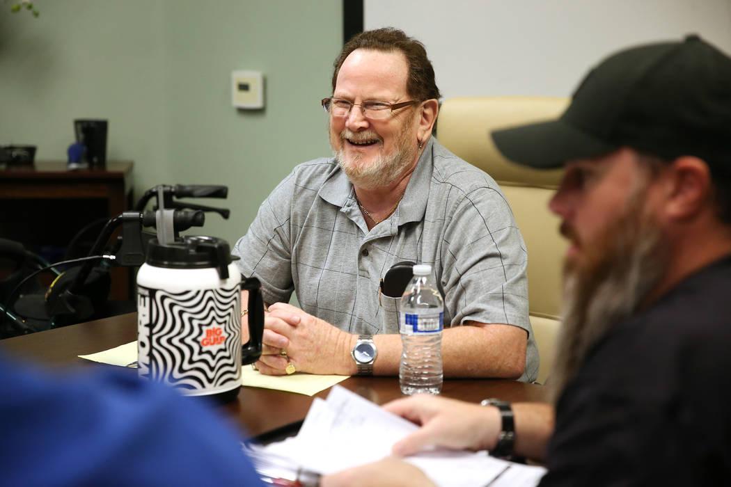 Jerry Adams, director for Veterans Action Group, during a board meeting in Henderson, Tuesday, Nov. 6, 2018. Erik Verduzco Las Vegas Review-Journal @Erik_Verduzco