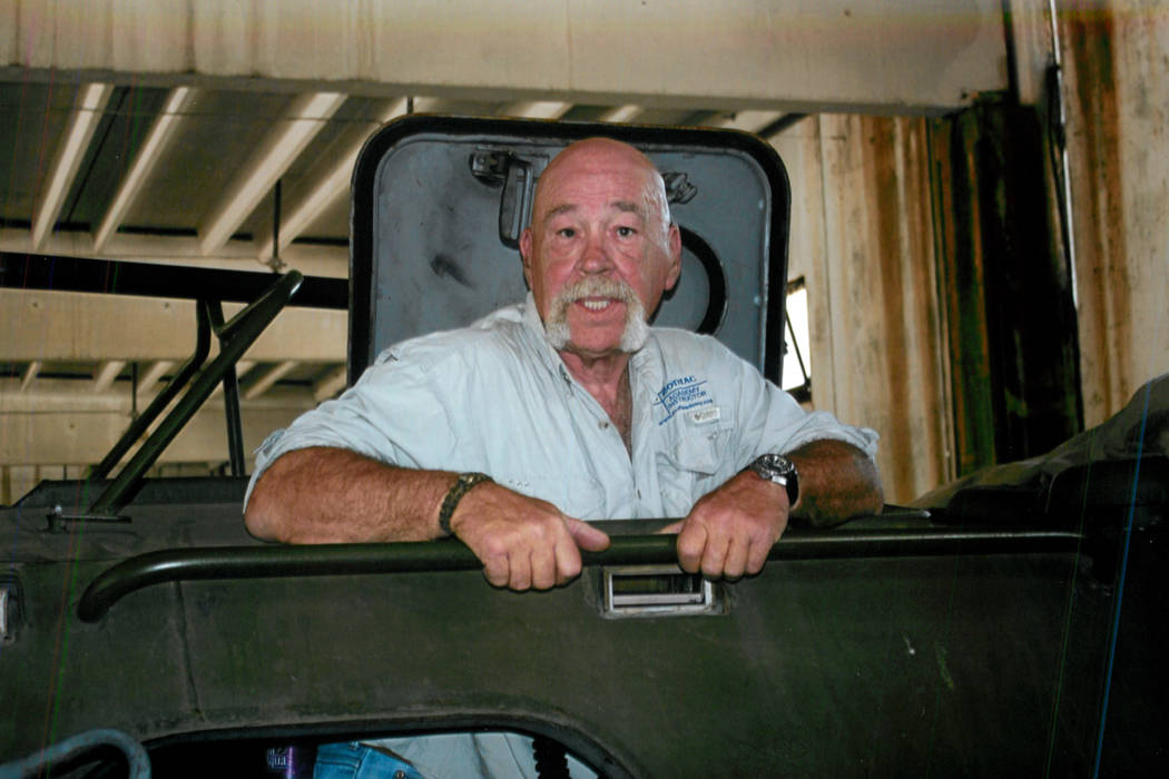 A photo of Billy Stojack in one of his armored vehicles. Photo courtesy of Kristen Watson.