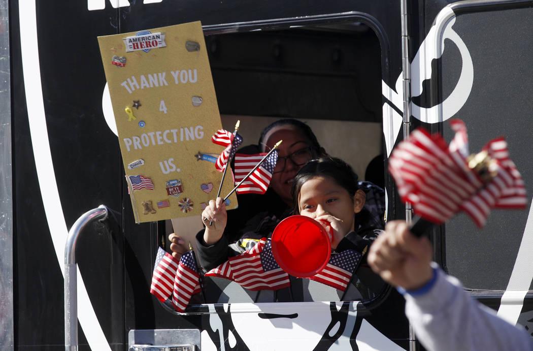 A float during the Veterans Day Parade in downtown Las Vegas, Sunday, Nov. 11, 2018. Rachel Aston Las Vegas Review-Journal @rookie__rae