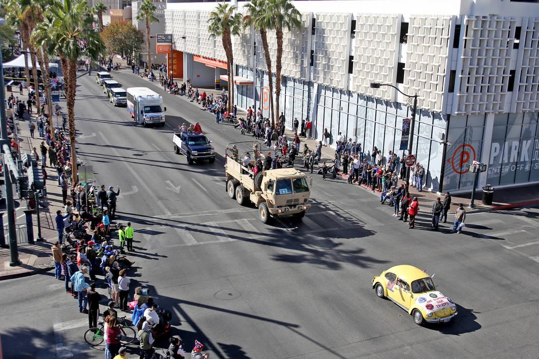 The Veterans Day Parade procession in Las Vegas, Sunday, Nov. 11, 2018. Rachel Aston Las Vegas Review-Journal @rookie__rae