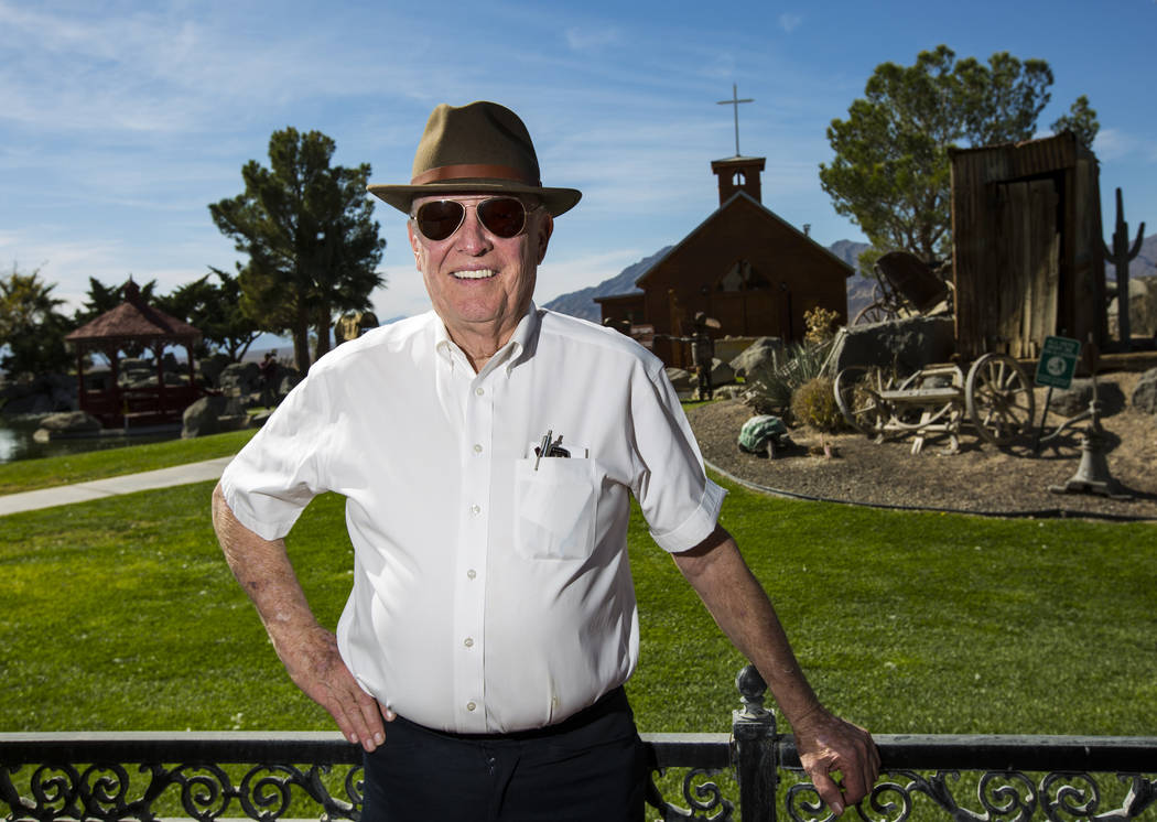 Businessman Jim Marsh at his Longstreet Casino in Amargosa Valley on Sunday, Oct. 28, 2018. Chase Stevens Las Vegas Review-Journal @csstevensphoto